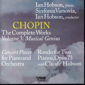Chopin: The Complete Works, Vol.3, Musical Genius
