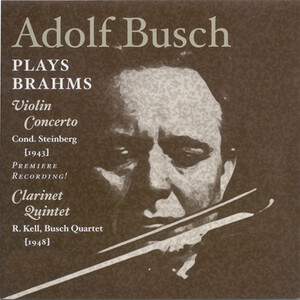 Adolf Busch Plays Brahms
