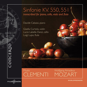 Mozart: Sinfonie K.550 and 551 transcribed for piano, cello, viola and flute