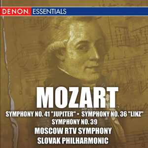 Mozart: Symphonies Nos.41 'Jupiter', No.36 and No.39