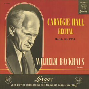 Carnegie Hall Recital, 1954