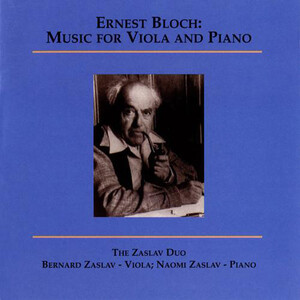 Bloch: Music for Viola and Piano