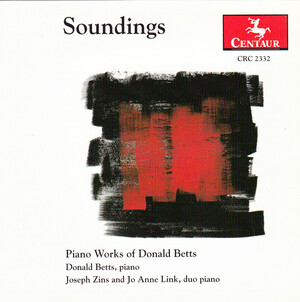 Soundings: Piano Works of Donald Betts