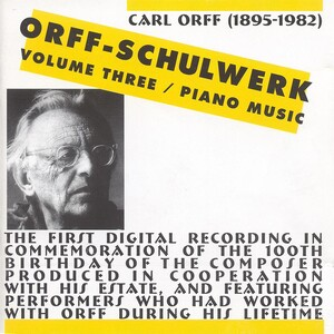 Orff: Schulwerk, Vol.3: Piano Music