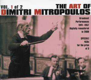 The Art of Dimitri Mitropoulos, Vol.1 of 2: Works by Berg, Stravinsky, Beethoven, etc.