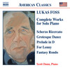 Lukas Foss: Complete works for Solo Piano