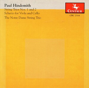 Hindemith: String Trios Nos.1 and 2; Scherzo for Viola and Cello