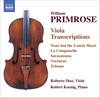 William Primrose: Viola Transcriptions
