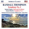 Thompson: Symphony No.2; S. Adams: Drift and Providence; Barber: Symphony No.1