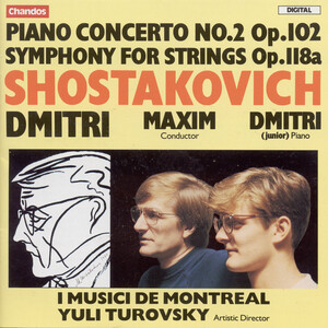 Shostakovich: Piano Concerto No. 2, Op. 102; Symphony for Strings, Op. 118a