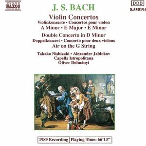 Bach: Violin Concertos; Double Concerto; Air on the G String ...