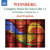 Weinberg: Complete Music for Solo Cello, Vol.1