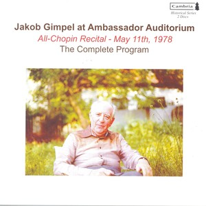 Jakob Gimpel at Ambassador Auditorium: All-Chopin Recital, May 11th, 1978