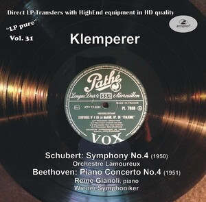 LP Pure, Vol.31: Klemperer Conducts Schubert and Beethoven