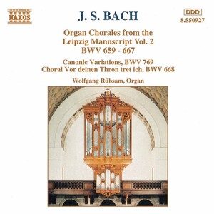 J.S. Bach: Organ Chorales from the Leipzig Manuscript Vol.2, BWV659-667
