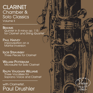 Clarinet Chamber and Solo Classics, Vol.2: Works by Brahms, Stravinsky, Pottebaum, etc.