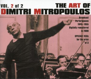 The Art of Dimtri Mitropoulos, Vol.2: Works by Mahler, Bach, Prokofiev, etc.
